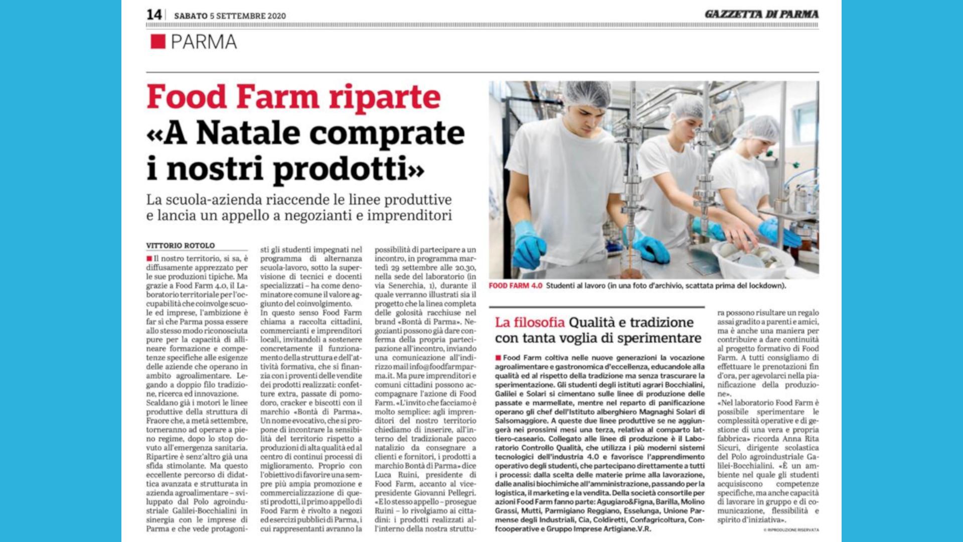 Food Farm: riparte