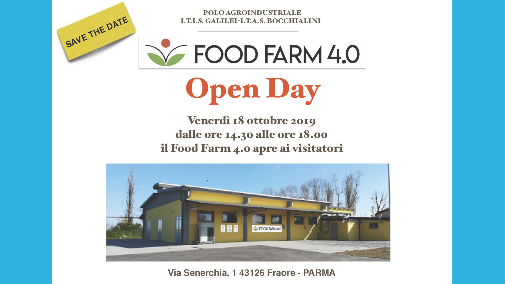 Food Farm 4.0 - Open Day